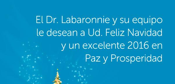 El Dr. Honorio Labaronnie y su equipo le desean a Ud. Feliz Navidad y un Excelente 2016 en Paz y Prosperidad.