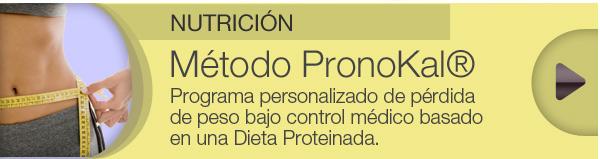 NUTRICIÓN - Método PronoKal® // Programa personalizado de pérdida de peso bajo control médico basado en una Dieta Proteinada.