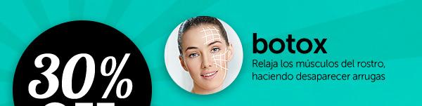 Botox: relaja los músculos del rostro, haciendo desaparecer arrugas