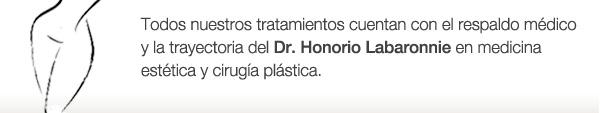Todos nuestros tratamientos cuentan con el respaldo médico y la trayectoria del Dr. Honorio Labaronnie en medicina estética y cirugía plástica.