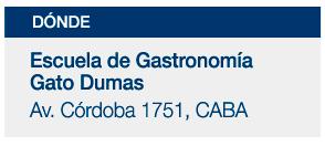 Colegio de Gastronomía Gato Dumas - Av. Córdoba 1751, CABA